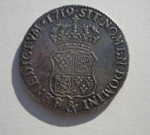 ecu louis 15-france navarre blason couronne revers