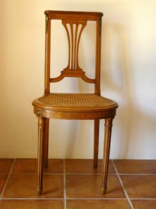 chaise lyre ancienne