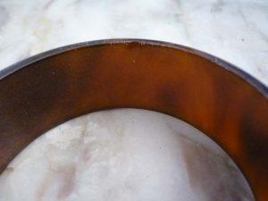 bracelet jonc en bakelite brun